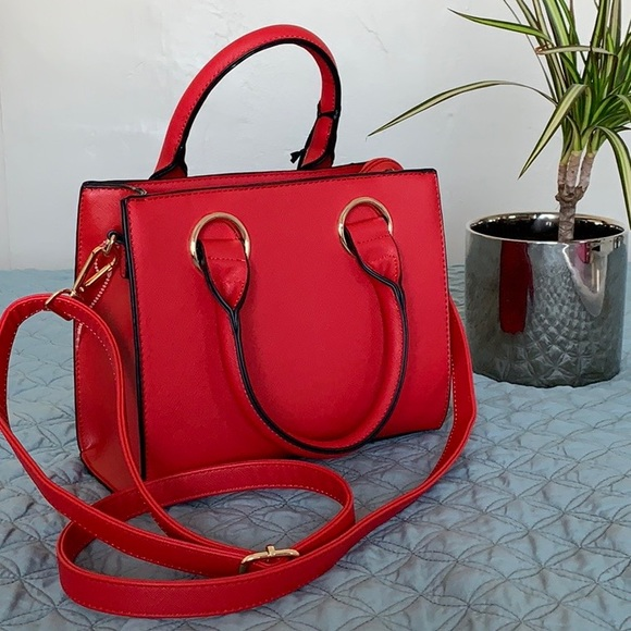 Handbags - NWT Red vegan leather crossbody bag